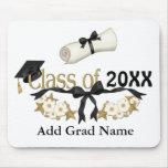 Graduado con clase 2015 alfombrilla de ratón