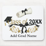 Graduado con clase 2015 alfombrillas de ratones