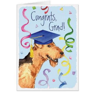 Graduado de Airedale Tarjeta De Felicitación