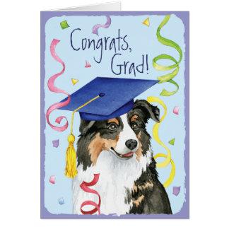 Graduado de Aussie Tarjeta De Felicitación
