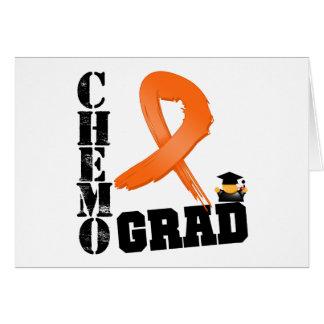 Graduado de Chemo de la leucemia Tarjeta De Felicitación