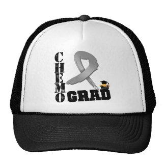 Graduado de Chemo del cáncer de cerebro Gorros Bordados
