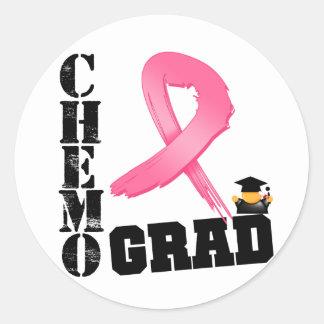 Graduado de Chemo del cáncer de pecho Etiquetas Redondas