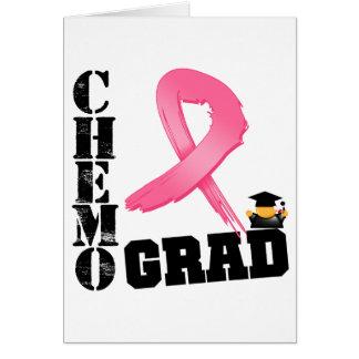 Graduado de Chemo del cáncer de pecho Tarjeta De Felicitación