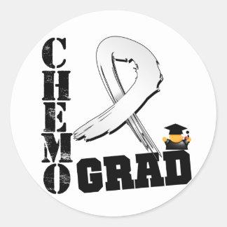 Graduado de Chemo del cáncer de pulmón Pegatina Redonda