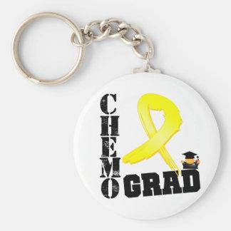 Graduado de Chemo del sarcoma Llavero Redondo Tipo Pin