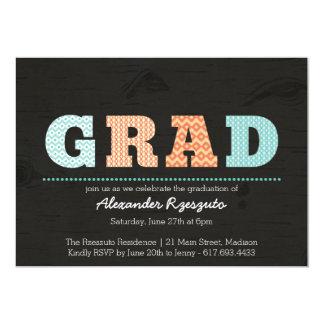 Graduado de Ikat - invitación de la graduación