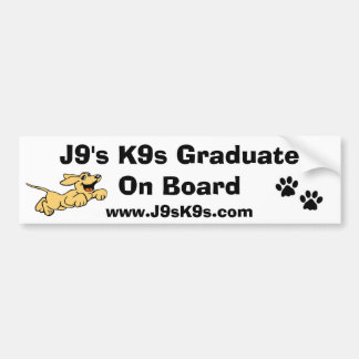Graduado de J9 K9s a bordo pegatina para el parach Pegatina Para Auto