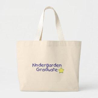 Graduado de Kidergarden (azul) Bolsa Tela Grande