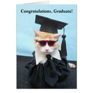 ¡Graduado de la enhorabuena! Tarjeta De Felicitación