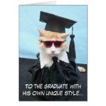 ¡Graduado de la enhorabuena! Tarjeton