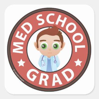 Graduado de la escuela del MED Pegatina Cuadrada