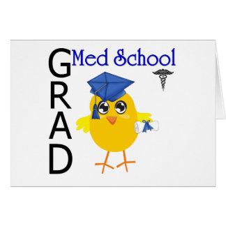 Graduado de la escuela del MED Tarjeta De Felicitación