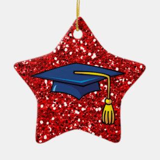 Graduado de la ESTRELLA Adorno De Cerámica En Forma De Estrella