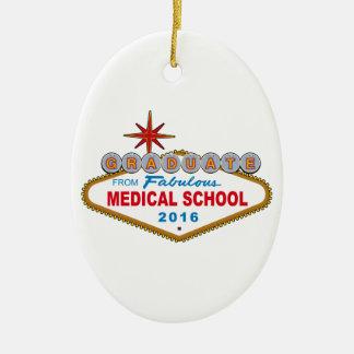 Graduado de la Facultad de Medicina fabulosa 2016 Adorno Navideño Ovalado De Cerámica