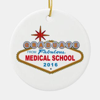 Graduado de la Facultad de Medicina fabulosa 2016 Adorno Navideño Redondo De Cerámica