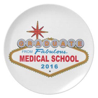 Graduado de la Facultad de Medicina fabulosa 2016 Platos De Comidas