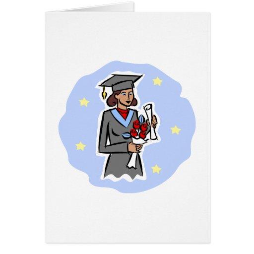 Graduado de la hembra tarjeta