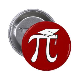 Graduado de la matemáticas pi pin redondo de 2 pulgadas