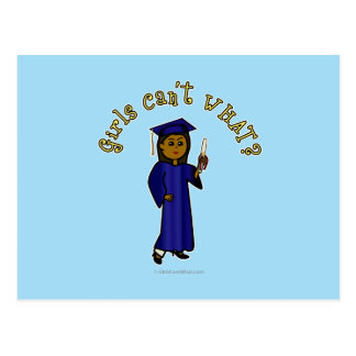 Graduado de la oscuridad en azul tarjetas postales