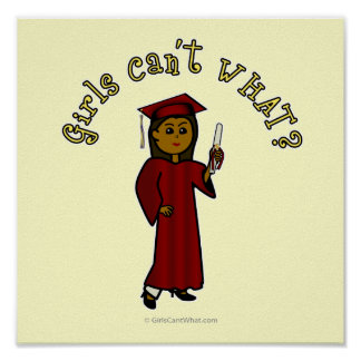Graduado de la oscuridad en rojo póster