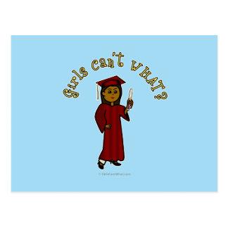 Graduado de la oscuridad en rojo tarjetas postales