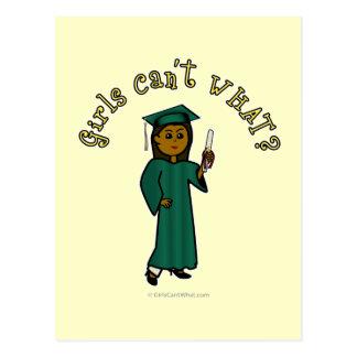 Graduado de la oscuridad en verde tarjeta postal
