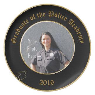 Graduado de la placa de la academia de policía 201 plato para fiesta