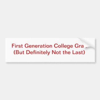 Graduado de la universidad pegatina para auto
