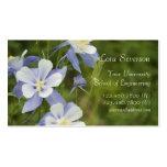 Graduado de las flores de Columbine azul Tarjetas De Visita