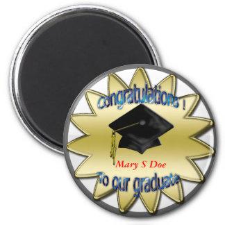 graduado de los congrats conmemorativo imán para frigorifico