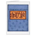 graduado de los congrats tarjeta