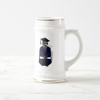 Graduado de Meerkat (con el marco azul del vestido Tazas De Café