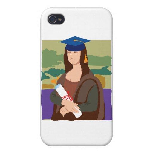 Graduado de Mona Lisa iPhone 4 Cárcasas
