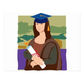 Graduado de Mona Lisa Tarjetas Postales