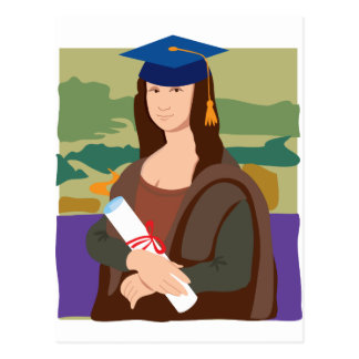 Graduado de Mona Lisa Postales