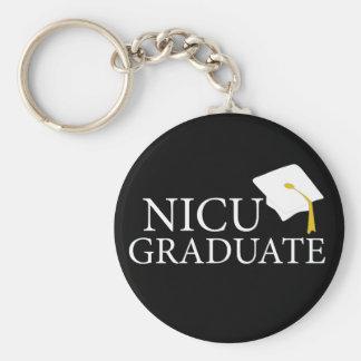 Graduado de NICU Llavero Redondo Tipo Pin