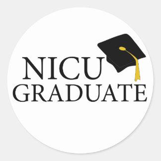 Graduado de NICU Pegatina Redonda