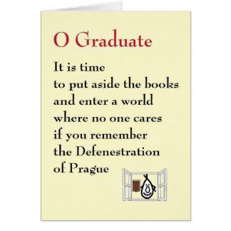 Graduado de O - un poema peculiar de la graduación Tarjeton
