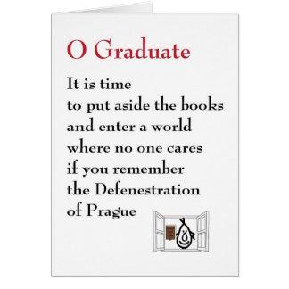 Graduado de O - un poema peculiar de la graduación Felicitacion