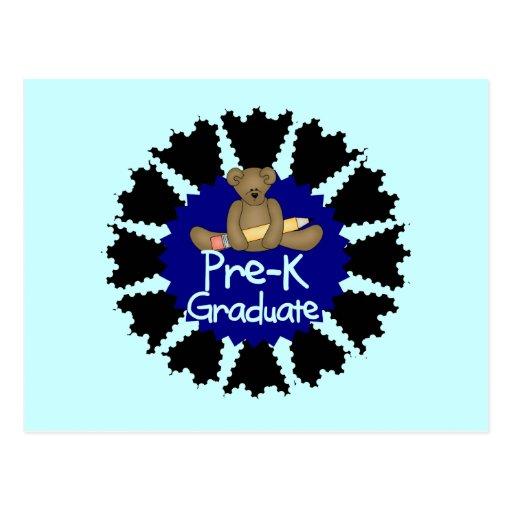 Graduado de Pre-K del oso - camisetas y regalos az Postales