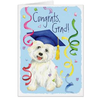 Graduado de Westie Tarjeta De Felicitación