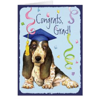 Graduado del afloramiento tarjeta de felicitación
