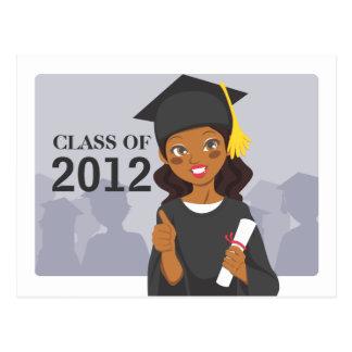 Graduado del afroamericano postales