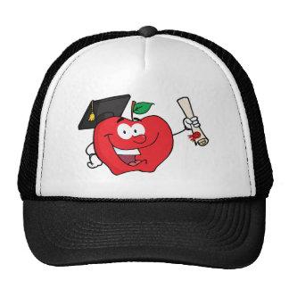Graduado del carácter de Apple que sostiene un dip Gorro De Camionero