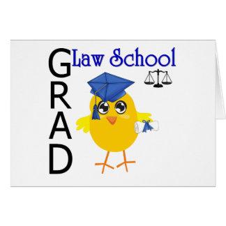 Graduado del colegio de abogados tarjeta de felicitación
