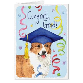 Graduado del Corgi Galés del Pembroke Tarjeta De Felicitación