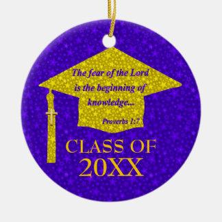 Graduado del cristiano adorno