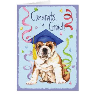Graduado del dogo tarjeta de felicitación