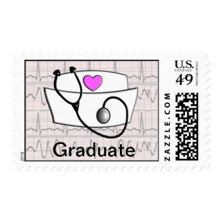 Graduado del franqueo de la graduación de la enfer sello postal